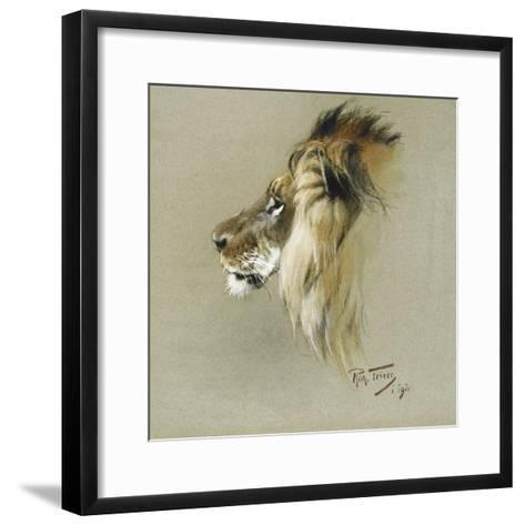 A Lion's Head-Richard Friese-Framed Art Print