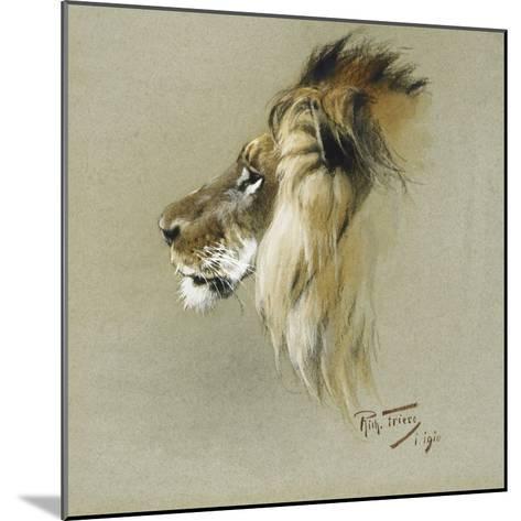 A Lion's Head-Richard Friese-Mounted Giclee Print
