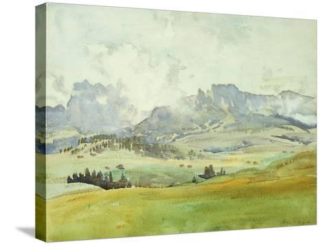 In the Dolomites-John Singer Sargent-Stretched Canvas Print