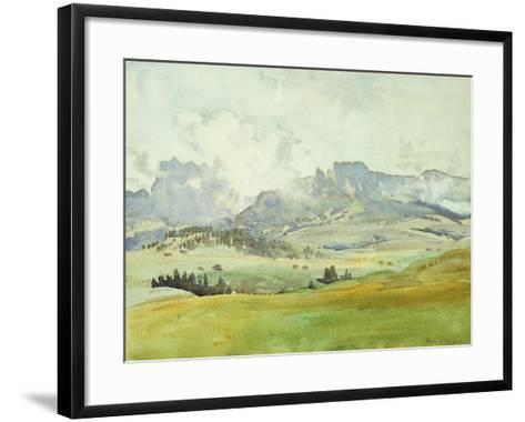In the Dolomites-John Singer Sargent-Framed Art Print