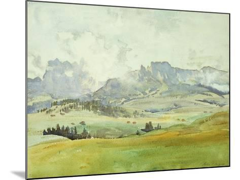 In the Dolomites-John Singer Sargent-Mounted Giclee Print