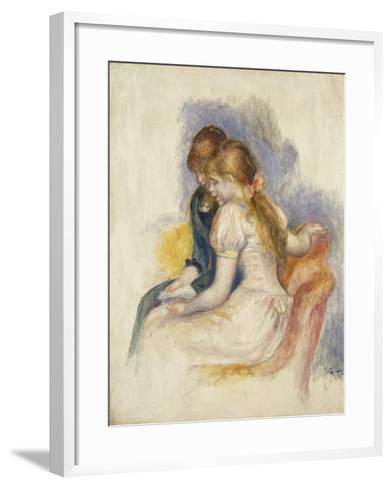 The Lecture-Pierre-Auguste Renoir-Framed Art Print
