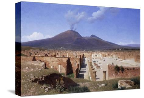 Vesuvius from Pompei-Louis		 Spangenberg-Stretched Canvas Print