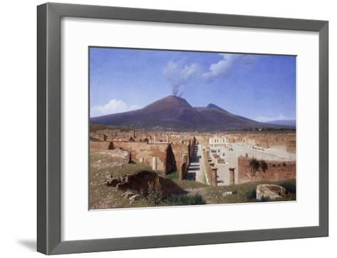 Vesuvius from Pompei-Louis		 Spangenberg-Framed Art Print