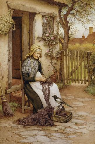 An Interruption-Charles Edward Wilson-Stretched Canvas Print