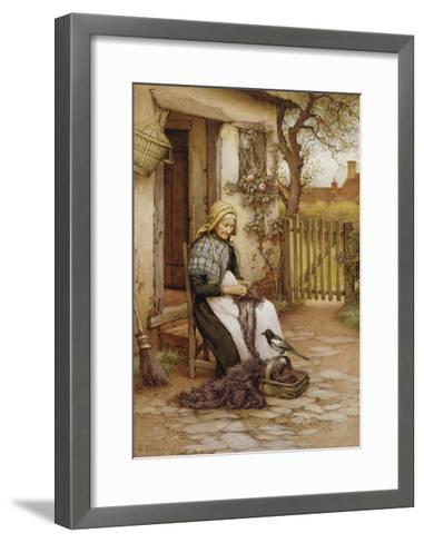 An Interruption-Charles Edward Wilson-Framed Art Print