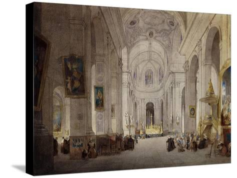 The Interior of the Church of St. Sulpice, Paris-John Scarlett		 Davis-Stretched Canvas Print