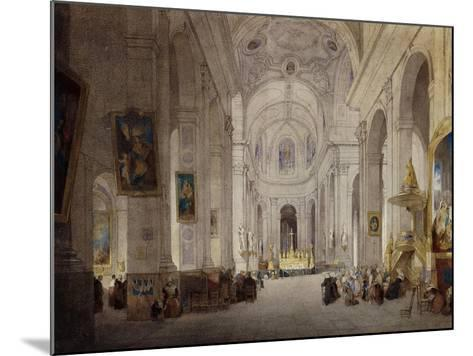 The Interior of the Church of St. Sulpice, Paris-John Scarlett		 Davis-Mounted Giclee Print