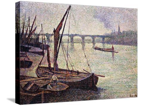 The Thames at Vauxhall Bridge-Maximilien Luce-Stretched Canvas Print