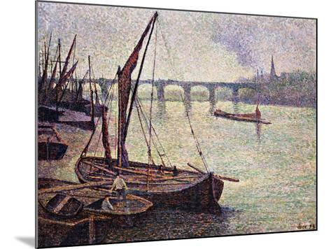 The Thames at Vauxhall Bridge-Maximilien Luce-Mounted Giclee Print