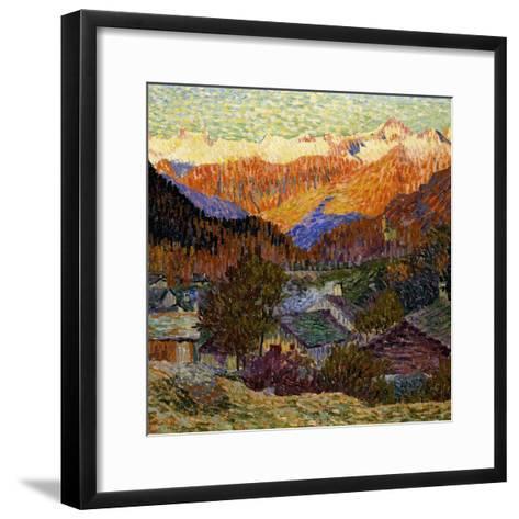 Autumn Morning (Original), 1908-Giacometti Giovanni-Framed Art Print