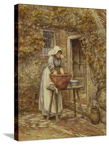Washing Day-Helen Allingham-Stretched Canvas Print