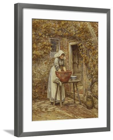 Washing Day-Helen Allingham-Framed Art Print