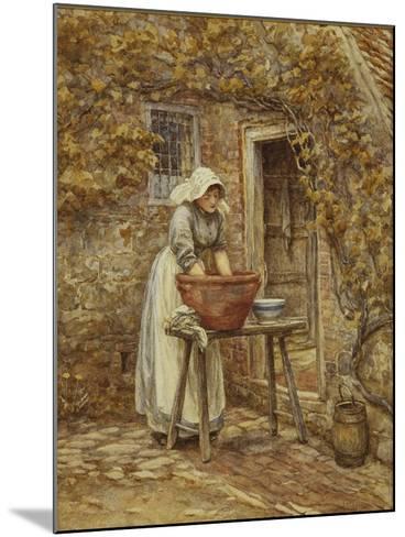 Washing Day-Helen Allingham-Mounted Giclee Print