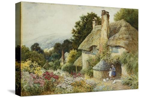 A Cottage at Selworthy, near Minehead-Arthur Claude Strachan-Stretched Canvas Print