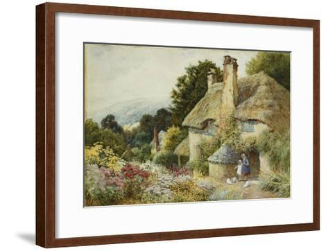 A Cottage at Selworthy, near Minehead-Arthur Claude Strachan-Framed Art Print