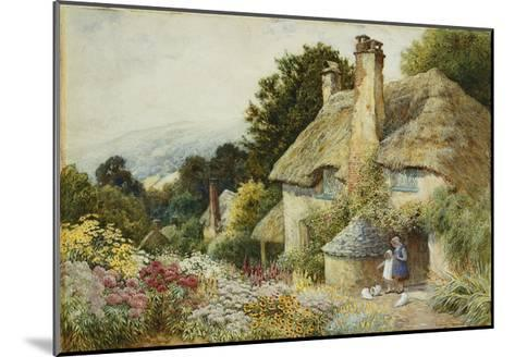 A Cottage at Selworthy, near Minehead-Arthur Claude Strachan-Mounted Giclee Print