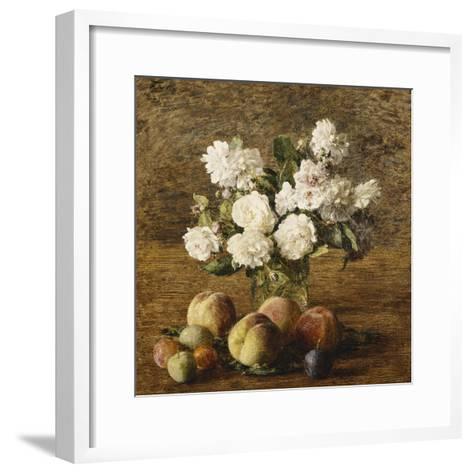 Still Life: Roses and Fruits-Henri Fantin-Latour-Framed Art Print