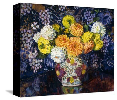 Vase of Flowers-Theo Rysselberghe-Stretched Canvas Print