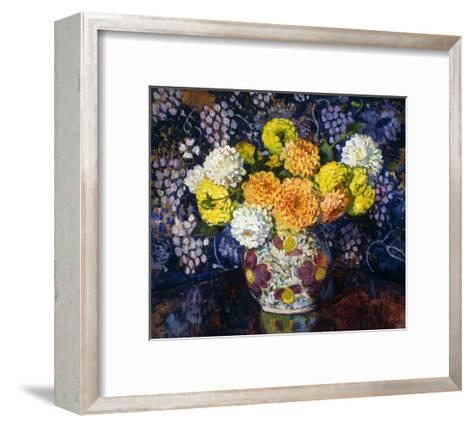 Vase of Flowers-Theo Rysselberghe-Framed Art Print