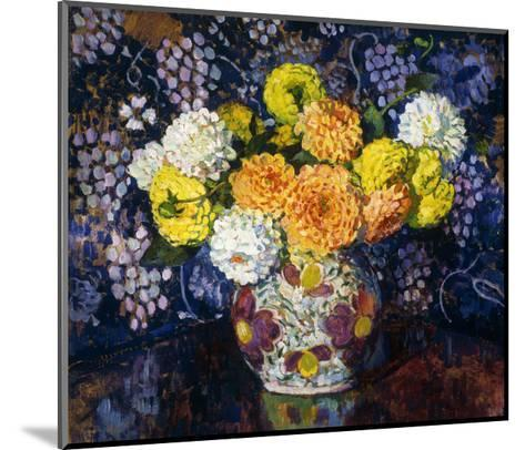 Vase of Flowers-Theo Rysselberghe-Mounted Giclee Print