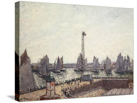 Outer Harbour and Cranes, Le Havre-Camille Pissarro-Stretched Canvas Print