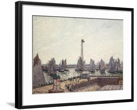 Outer Harbour and Cranes, Le Havre-Camille Pissarro-Framed Art Print