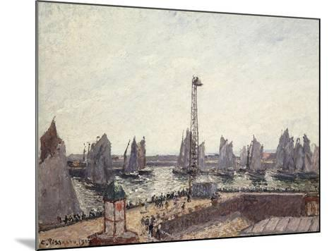 Outer Harbour and Cranes, Le Havre-Camille Pissarro-Mounted Giclee Print