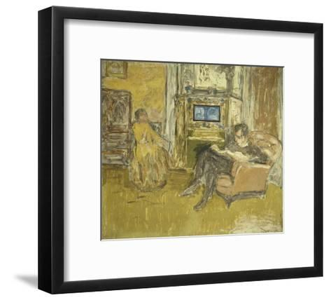 Study for a Portrait of Mr. and Mrs. Marcel Kapferer-Edouard Vuillard-Framed Art Print