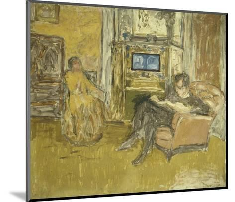Study for a Portrait of Mr. and Mrs. Marcel Kapferer-Edouard Vuillard-Mounted Giclee Print