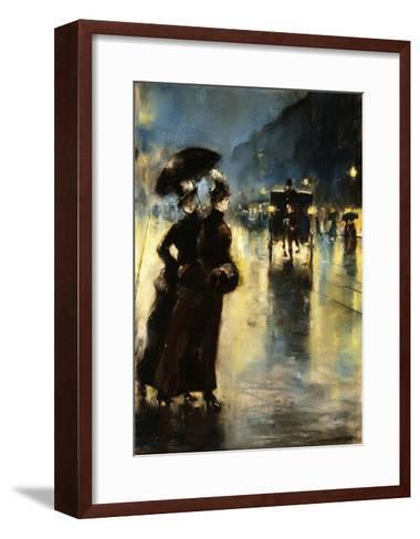 Nactbeleuchtung-Lesser Ury-Framed Art Print