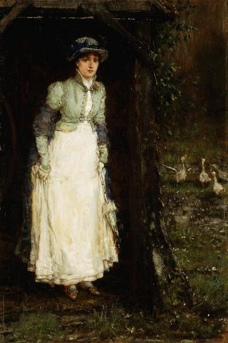 Spring Showers-George Henry		 Boughton-Stretched Canvas Print