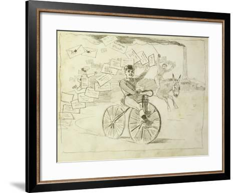 The Bicycle Messenger-Winslow Homer-Framed Art Print