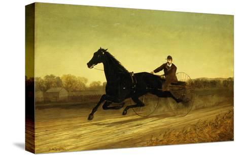 The Racing Sulky-Nicholas Winfield Leighton-Stretched Canvas Print