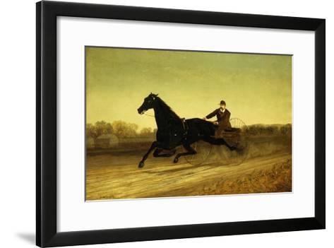 The Racing Sulky-Nicholas Winfield Leighton-Framed Art Print
