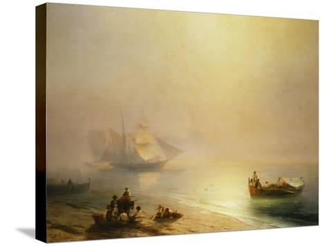 Fisherfolk on the Seashore, The Bay of Naples-Ivan Konstantinovich		 Aivazovsky-Stretched Canvas Print