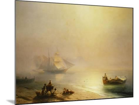 Fisherfolk on the Seashore, The Bay of Naples-Ivan Konstantinovich		 Aivazovsky-Mounted Giclee Print