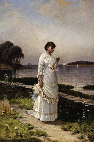 The Engagement Ring-Alfred Thompson Bricher-Stretched Canvas Print