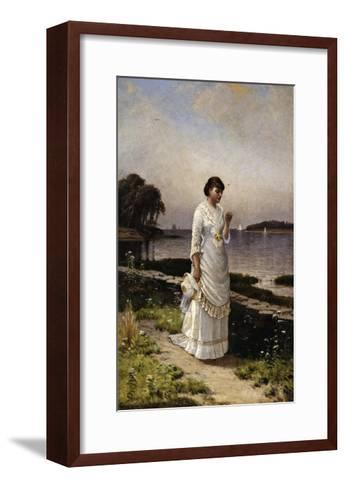 The Engagement Ring-Alfred Thompson Bricher-Framed Art Print