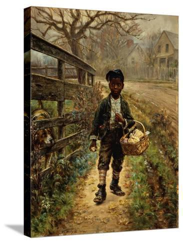 Protecting the Groceries-Edward Lamson Henry-Stretched Canvas Print