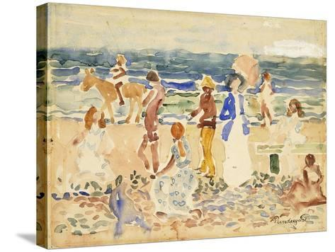 The Donkey Rider-Maurice Brazil Prendergast-Stretched Canvas Print