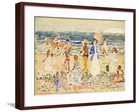 The Donkey Rider-Maurice Brazil Prendergast-Framed Art Print