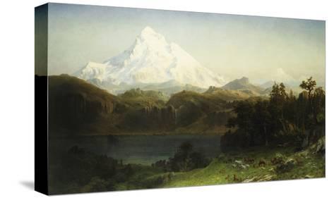 Mount Hood in Oregon-Albert Bierstadt-Stretched Canvas Print