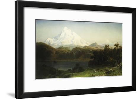 Mount Hood in Oregon-Albert Bierstadt-Framed Art Print