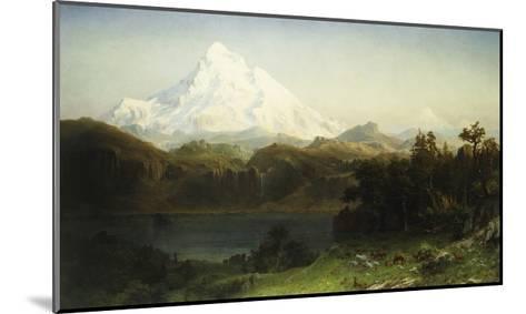 Mount Hood in Oregon-Albert Bierstadt-Mounted Giclee Print