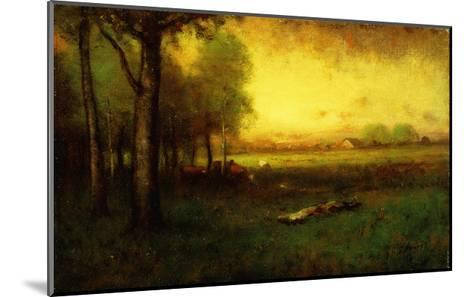 Cows Grazing at Sunset-Inness, Sr. George-Mounted Giclee Print