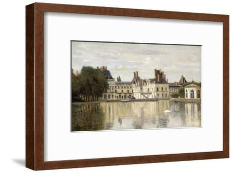 Fontainebleau - View of the Chateau and Lake-Jean-Baptiste-Camille Corot-Framed Art Print