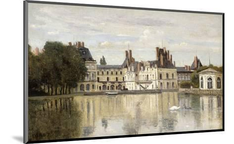 Fontainebleau - View of the Chateau and Lake-Jean-Baptiste-Camille Corot-Mounted Giclee Print