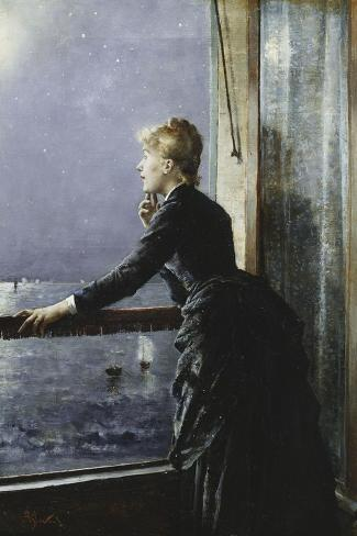 The Milky Way-Alfred Stevens-Stretched Canvas Print