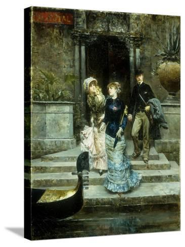 Departure from the Hotel Royal, Venice-Ludovico		 Marchetti-Stretched Canvas Print